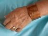 """Make It Happen"" etched copper bracelet"