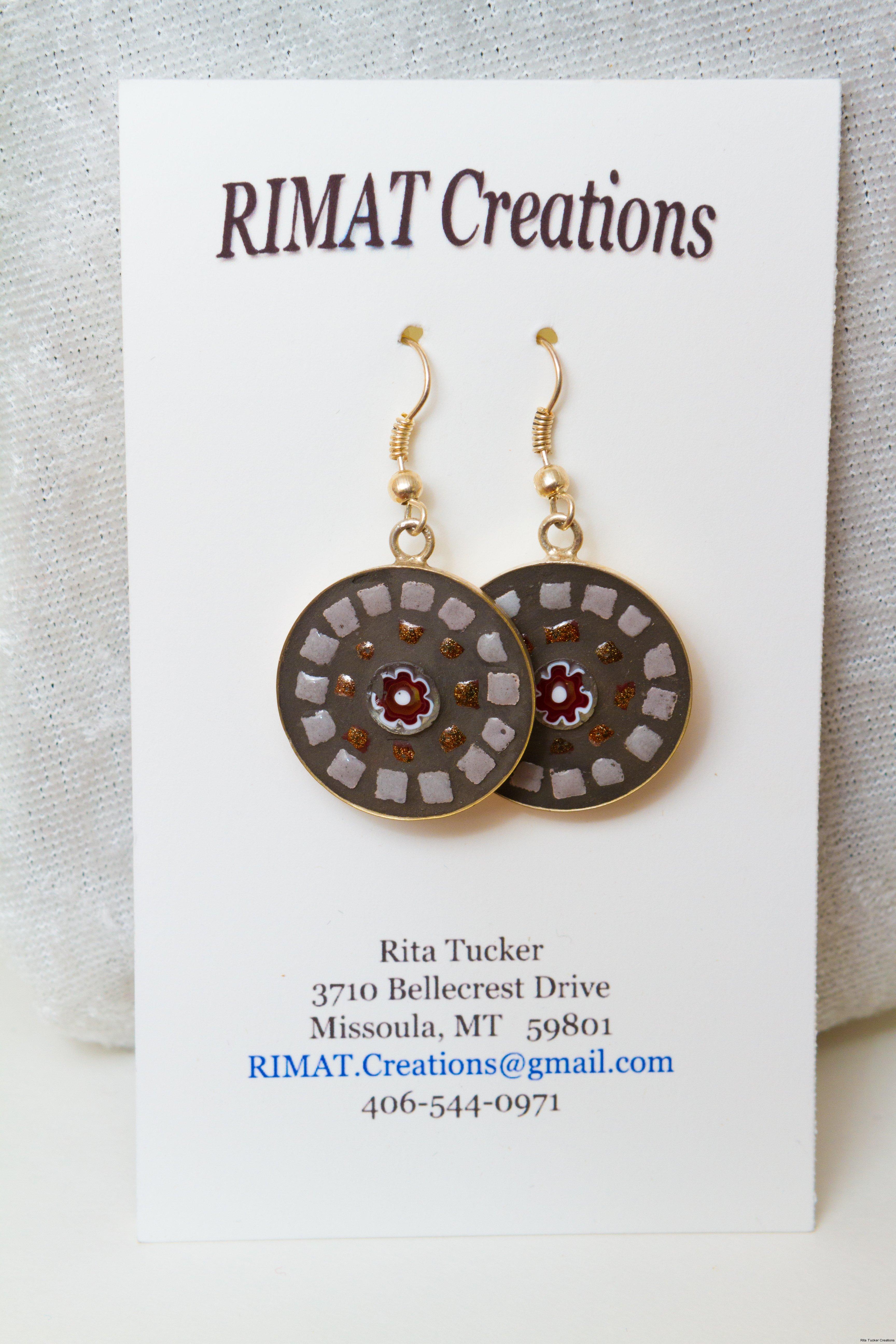 brown-mosaic-earrings