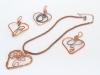 wire wrap heart pendants