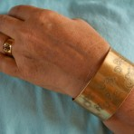 Brass Inspirational Cuff Bracelet -2