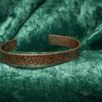 Recycled copper bracelet with etched stars