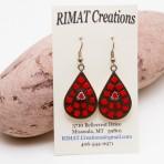 Red mosaic earrings