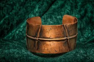Cuff Bracelet - folded copper