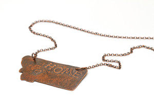 Copper Home Montana Pendant with heart