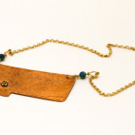 Copper Home Montana pendant with flower