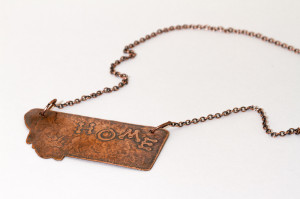 Copper Home Montana pendant with Griz paw