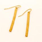 Brass Strip earrings