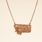 Necklace – copper image of Montana