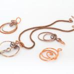 wire wrap circle shape pendant