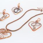 wire wrap heart shape pendant