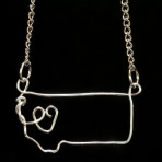 Montana image in silver wire